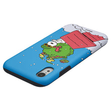 Load image into Gallery viewer, iPhone XS Max Case PEANUTS Layered Hybrid [TPU + PC] Bumper Cover - Christmas Gift Bag Snoopy