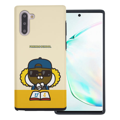 Galaxy Note10 Plus Case (6.8inch) Kakao Friends Layered Hybrid [TPU + PC] Bumper Cover - School Jay-G