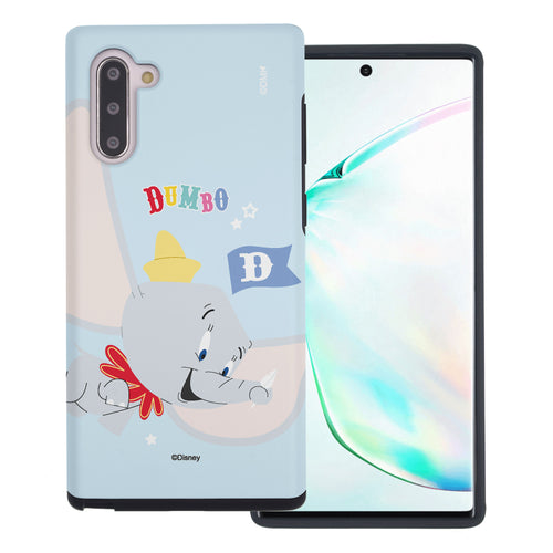 Galaxy Note10 Plus Case (6.8inch) Disney Dumbo Layered Hybrid [TPU + PC] Bumper Cover - Dumbo Fly