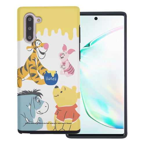 Galaxy Note10 Plus Case (6.8inch) Disney Pooh Layered Hybrid [TPU + PC] Bumper Cover - Pooh Friends