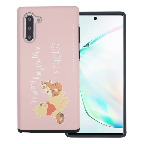 Galaxy Note10 Plus Case (6.8inch) Disney Pooh Layered Hybrid [TPU + PC] Bumper Cover - Words Pooh Tigger