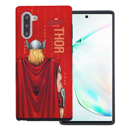 Galaxy Note10 Plus Case (6.8inch) Marvel Avengers Layered Hybrid [TPU + PC] Bumper Cover - Back Tho