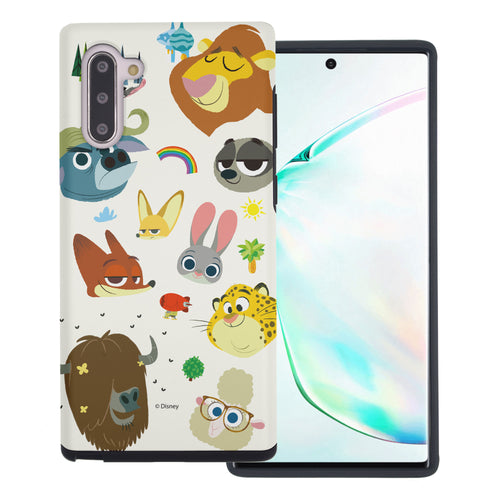 Galaxy Note10 Plus Case (6.8inch) Disney Zootopia Layered Hybrid [TPU + PC] Bumper Cover - Zootopia Small