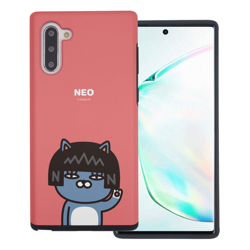 Galaxy Note10 Plus Case (6.8inch) Kakao Friends Layered Hybrid [TPU + PC] Bumper Cover - Greeting Neo