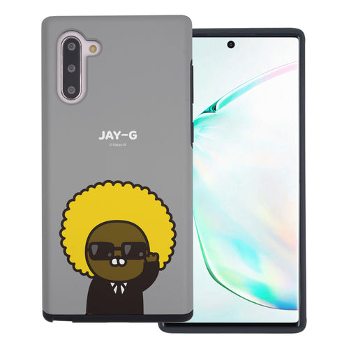 Galaxy Note10 Plus Case (6.8inch) Kakao Friends Layered Hybrid [TPU + PC] Bumper Cover - Greeting Jay-G