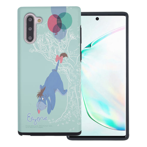 Galaxy Note10 Plus Case (6.8inch) Disney Pooh Layered Hybrid [TPU + PC] Bumper Cover - Balloon Eeyore