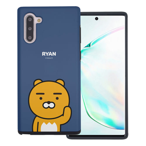 Galaxy Note10 Plus Case (6.8inch) Kakao Friends Layered Hybrid [TPU + PC] Bumper Cover - Greeting Ryan