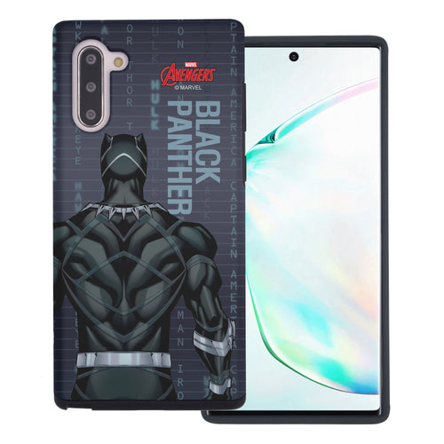 Galaxy Note10 Plus Case (6.8inch) Marvel Avengers Layered Hybrid [TPU + PC] Bumper Cover - Back Panther