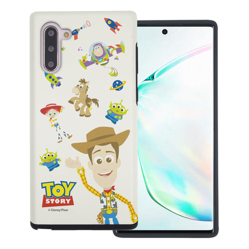 Galaxy Note10 Case (6.3inch) Toy Story Layered Hybrid [TPU + PC] Bumper Cover - Pattern Woody