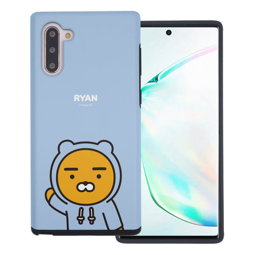 Galaxy Note10 Plus Case (6.8inch) Kakao Friends Layered Hybrid [TPU + PC] Bumper Cover - Greeting Ryan Hood
