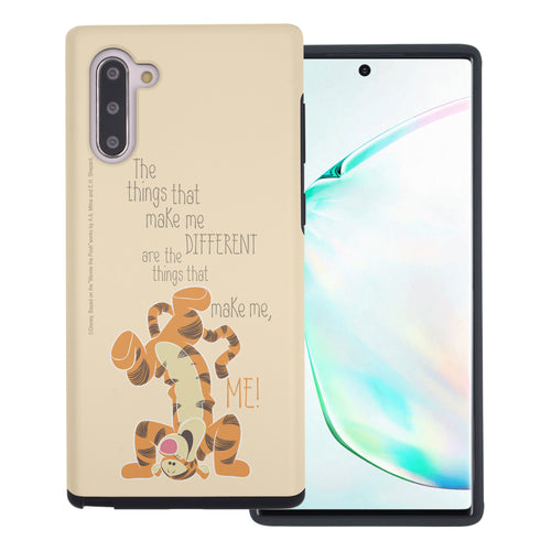 Galaxy Note10 Plus Case (6.8inch) Disney Pooh Layered Hybrid [TPU + PC] Bumper Cover - Words Tigger
