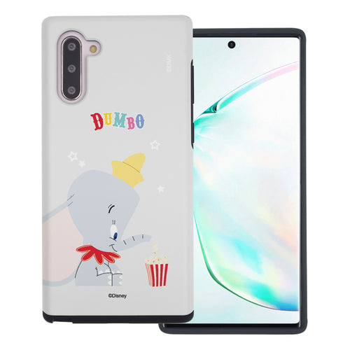 Galaxy Note10 Plus Case (6.8inch) Disney Dumbo Layered Hybrid [TPU + PC] Bumper Cover - Dumbo Popcorn