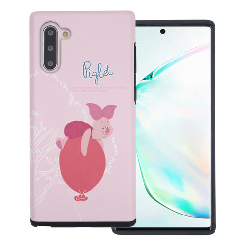Galaxy Note10 Plus Case (6.8inch) Disney Pooh Layered Hybrid [TPU + PC] Bumper Cover - Balloon Piglet