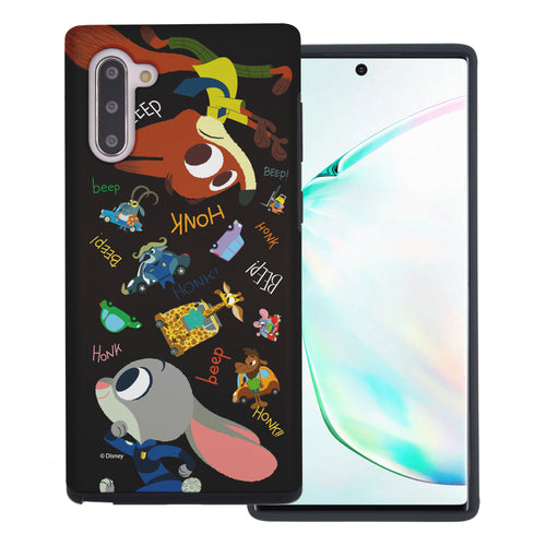Galaxy Note10 Plus Case (6.8inch) Disney Zootopia Layered Hybrid [TPU + PC] Bumper Cover - Zootopia Black