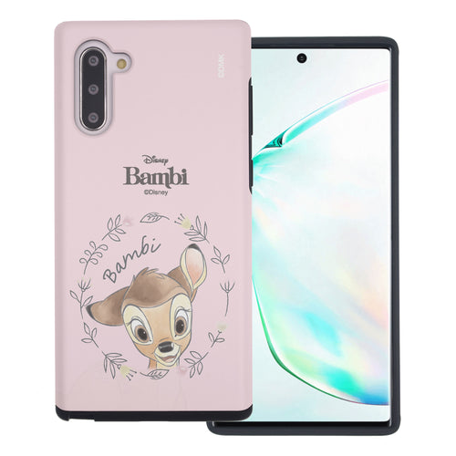 Galaxy Note10 Plus Case (6.8inch) Disney Bambi Layered Hybrid [TPU + PC] Bumper Cover - Face Bambi