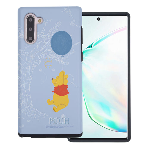 Galaxy Note10 Plus Case (6.8inch) Disney Pooh Layered Hybrid [TPU + PC] Bumper Cover - Balloon Pooh Sky