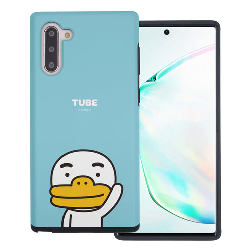 Galaxy Note10 Plus Case (6.8inch) Kakao Friends Layered Hybrid [TPU + PC] Bumper Cover - Greeting Tube