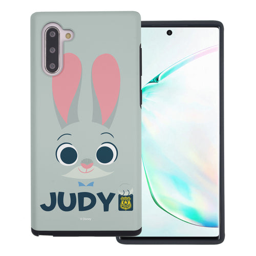 Galaxy Note10 Plus Case (6.8inch) Disney Zootopia Layered Hybrid [TPU + PC] Bumper Cover - Face Judy