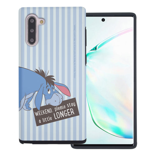 Galaxy Note10 Plus Case (6.8inch) Disney Pooh Layered Hybrid [TPU + PC] Bumper Cover - Words Eeyore Stripe