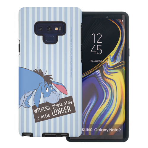 Galaxy Note9 Case Disney Pooh Layered Hybrid [TPU + PC] Bumper Cover - Words Eeyore Stripe