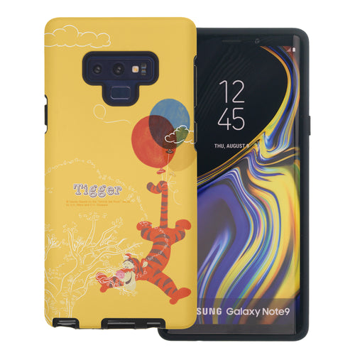 Galaxy Note9 Case Disney Pooh Layered Hybrid [TPU + PC] Bumper Cover - Balloon Tigger