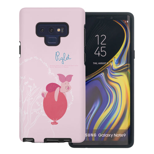Galaxy Note9 Case Disney Pooh Layered Hybrid [TPU + PC] Bumper Cover - Balloon Piglet