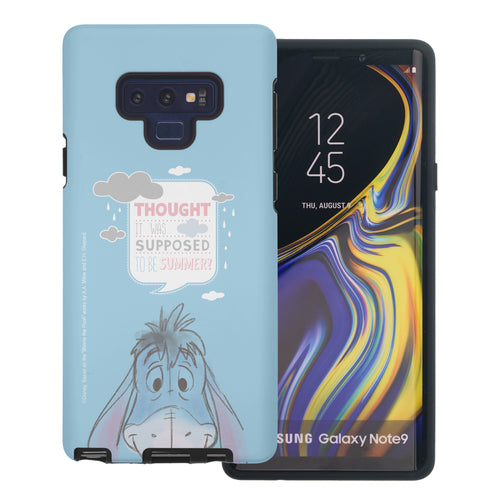Galaxy Note9 Case Disney Pooh Layered Hybrid [TPU + PC] Bumper Cover - Words Eeyore Face