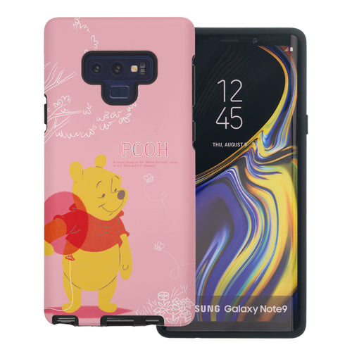 Galaxy Note9 Case Disney Pooh Layered Hybrid [TPU + PC] Bumper Cover - Balloon Pooh Ground