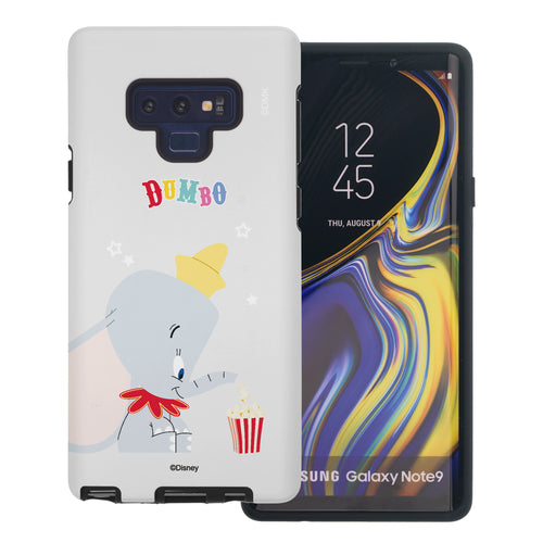 Galaxy Note9 Case Disney Dumbo Layered Hybrid [TPU + PC] Bumper Cover - Dumbo Popcorn