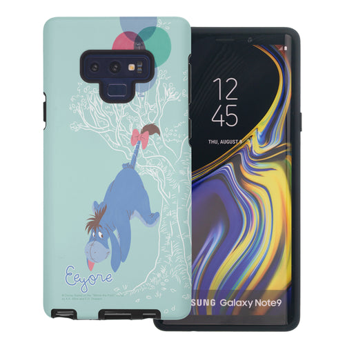 Galaxy Note9 Case Disney Pooh Layered Hybrid [TPU + PC] Bumper Cover - Balloon Eeyore