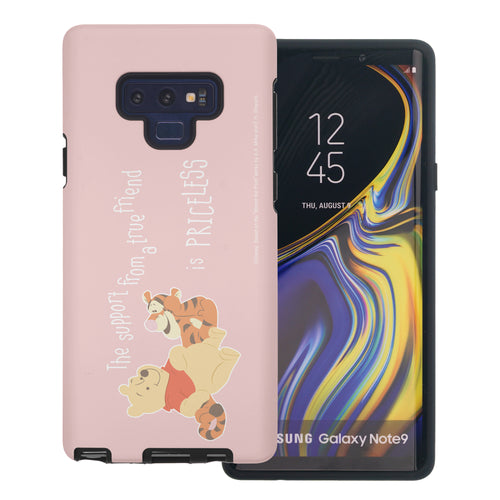 Galaxy Note9 Case Disney Pooh Layered Hybrid [TPU + PC] Bumper Cover - Words Pooh Tigger
