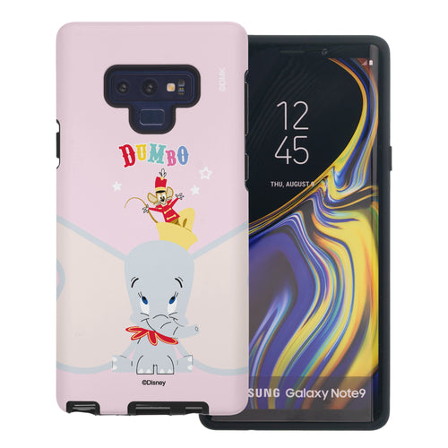 Galaxy Note9 Case Disney Dumbo Layered Hybrid [TPU + PC] Bumper Cover - Dumbo Overhead