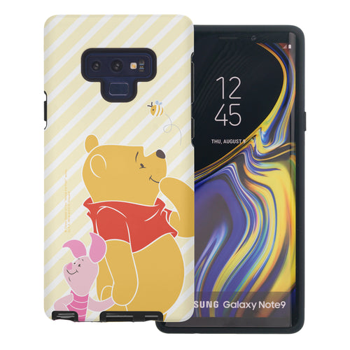 Galaxy Note9 Case Disney Pooh Layered Hybrid [TPU + PC] Bumper Cover - Stripe Pooh Bee