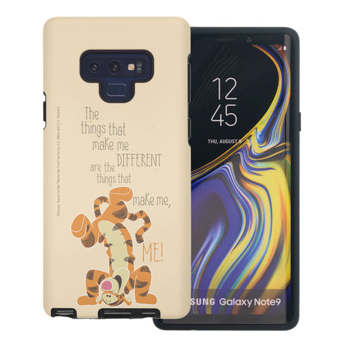 Galaxy Note9 Case Disney Pooh Layered Hybrid [TPU + PC] Bumper Cover - Words Tigger