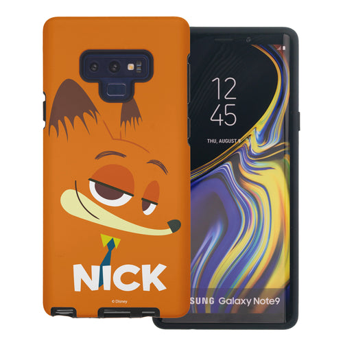 Galaxy Note9 Case Disney Zootopia Layered Hybrid [TPU + PC] Bumper Cover - Face Nick