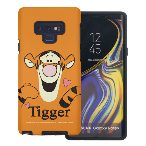 Galaxy Note9 Case Disney Pooh Layered Hybrid [TPU + PC] Bumper Cover - Face Line Tigger