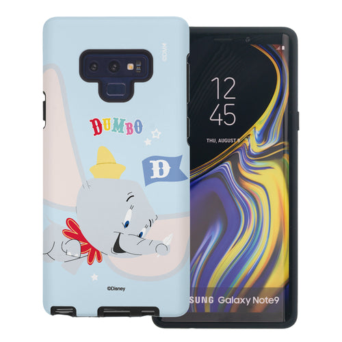 Galaxy Note9 Case Disney Dumbo Layered Hybrid [TPU + PC] Bumper Cover - Dumbo Fly