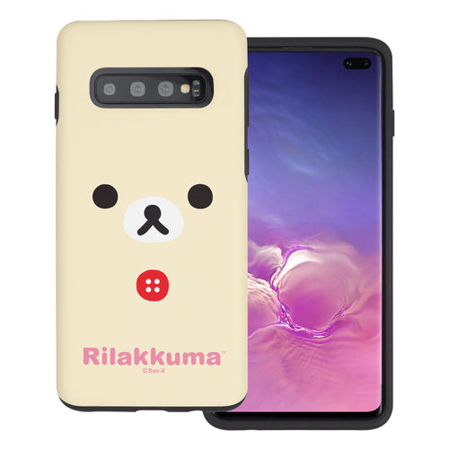 Galaxy Note8 Case Rilakkuma Layered Hybrid [TPU + PC] Bumper Cover - Face Korilakkuma