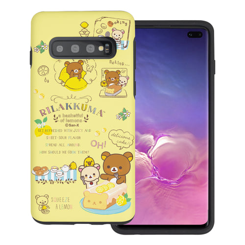 Galaxy S10e Case (5.8inch) Rilakkuma Layered Hybrid [TPU + PC] Bumper Cover - Rilakkuma Cooking
