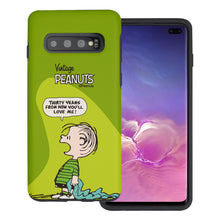 Load image into Gallery viewer, Galaxy S10 5G Case (6.7inch) PEANUTS Layered Hybrid [TPU + PC] Bumper Cover - Cartoon Linus