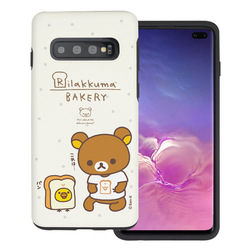 Galaxy S10e Case (5.8inch) Rilakkuma Layered Hybrid [TPU + PC] Bumper Cover - Rilakkuma Bread