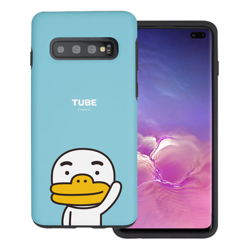 Galaxy S10 5G Case (6.7inch) Kakao Friends Layered Hybrid [TPU + PC] Bumper Cover - Greeting Tube