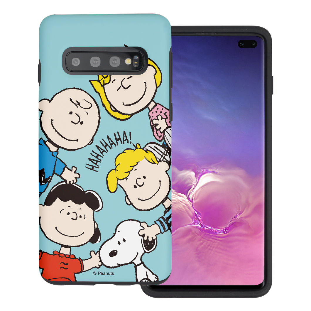 Galaxy S10 5G Case (6.7inch) PEANUTS Layered Hybrid [TPU + PC] Bumper Cover - Peanuts Friends Face