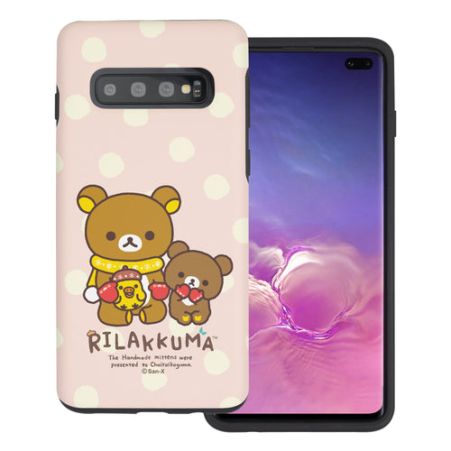 Galaxy S10e Case (5.8inch) Rilakkuma Layered Hybrid [TPU + PC] Bumper Cover - Chairoikoguma Sit