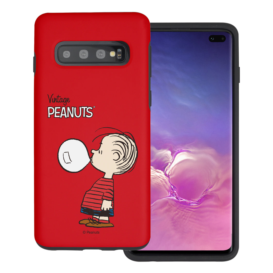Galaxy S10 5G Case (6.7inch) PEANUTS Layered Hybrid [TPU + PC] Bumper Cover - Simple Linus