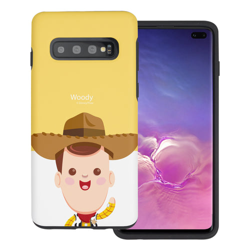 Galaxy S10 Plus Case (6.4inch) Toy Story Layered Hybrid [TPU + PC] Bumper Cover - Baby Woody
