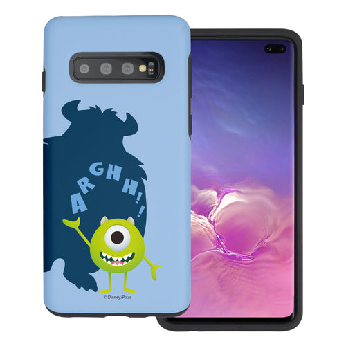 Galaxy S10 Plus Case (6.4inch) Monsters University inc Layered Hybrid [TPU + PC] Bumper Cover - Simple Mike
