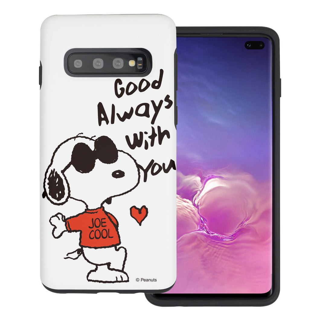 Galaxy S10e Case (5.8inch) PEANUTS Layered Hybrid [TPU + PC] Bumper Cover - Snoopy Love Red
