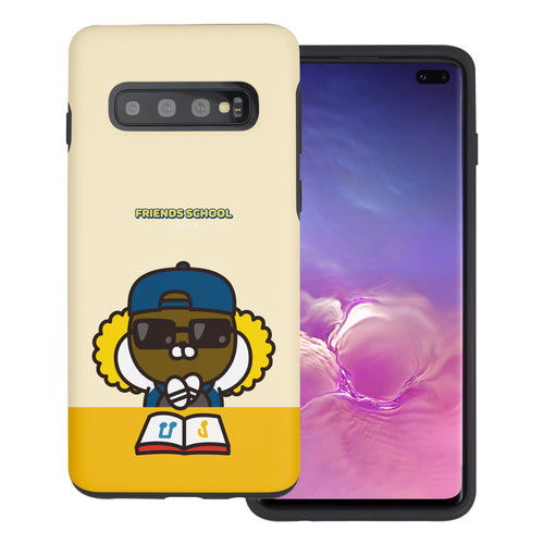 Galaxy S10 5G Case (6.7inch) Kakao Friends Layered Hybrid [TPU + PC] Bumper Cover - School Jay-G