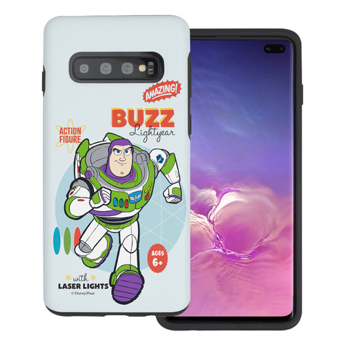 Galaxy S10 Plus Case (6.4inch) Toy Story Layered Hybrid [TPU + PC] Bumper Cover - Full Buzz